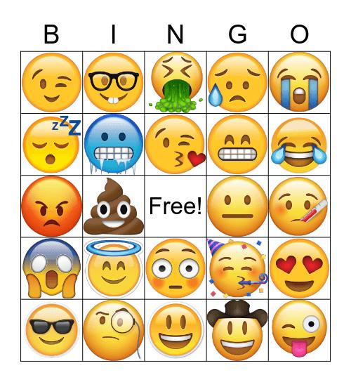 EMOJI Bingo Card