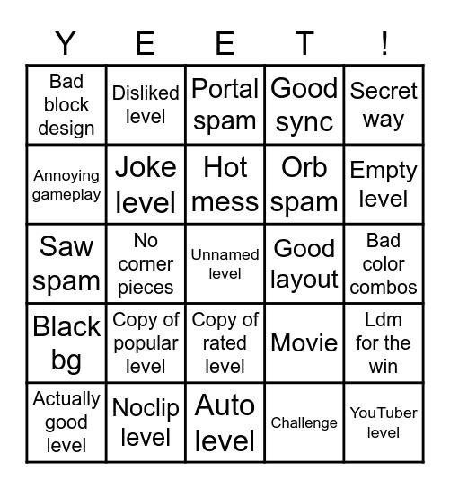 Gd recent tab bingo Card