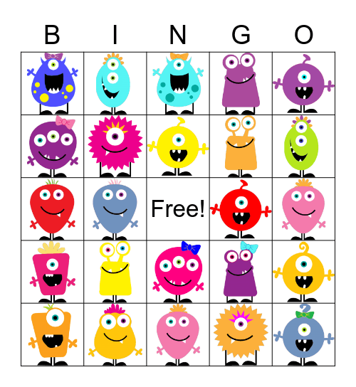 ALIEN Bingo Card