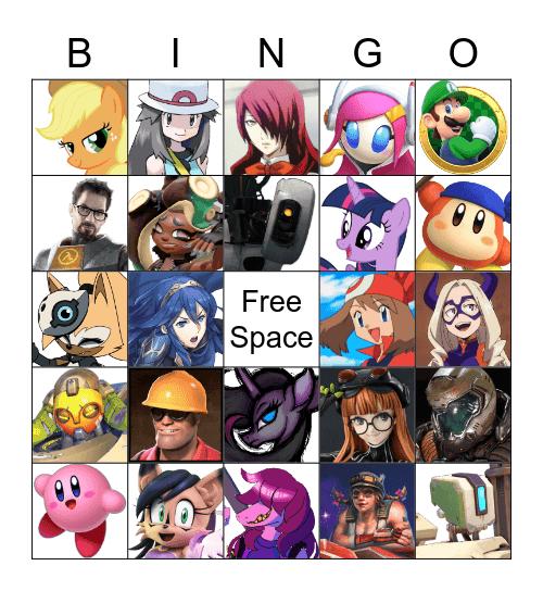 Favorite Character Bingo Card
