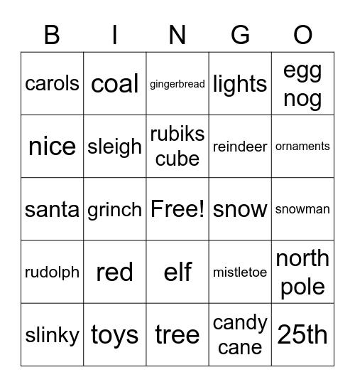 Christmas Bingo! :) Bingo Card