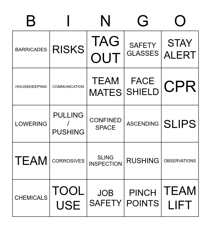 AUGUST SAFETY APPRECIATION BINGO, AUG 2018 SAFETY APPRECIATION BINGO, FEBRUARY 2019, MAY SAFETY APPRECIATION BINGO, AUG 18 SAFETY APPRECIATION BINGO, JUNE SAFETY APPRECIATION BINGO, 4 WEEK BINGO, MAY 2019, NOVEMBER 2018, SEPT 2018 SAFETY APPRECIATION B Bingo Card