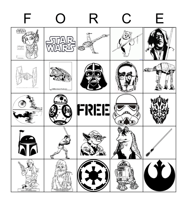 Star Wars BINGO Card