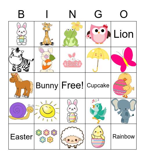 SuperArt Easter Bingo Card