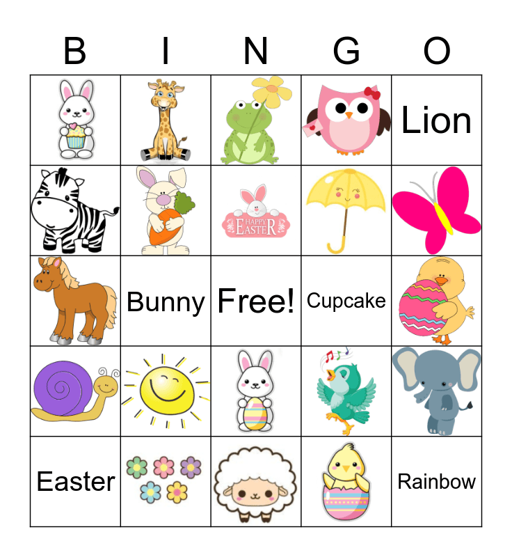 SuperArt Easter Bingo Card