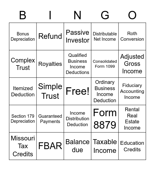 March Madness Bingo Card