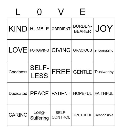 Love Bingo Card