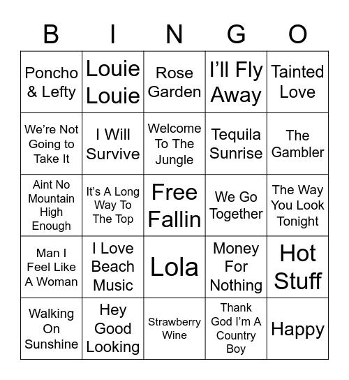Music Bingo 4-17 Bingo Card