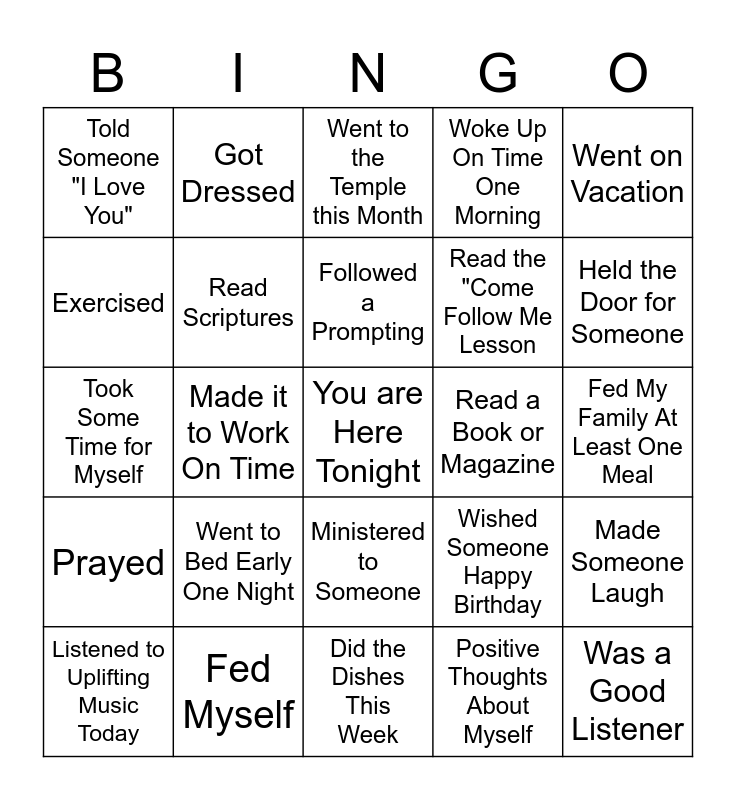 Drops of Awesome Bingo Card