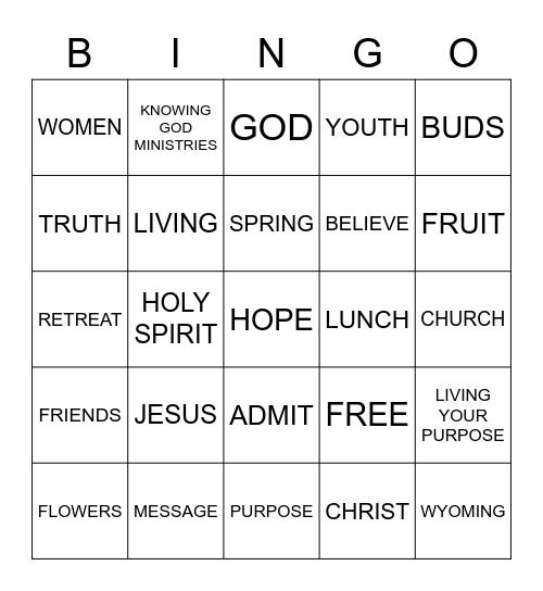 LIVING YOUR PURPOSE Bingo Card