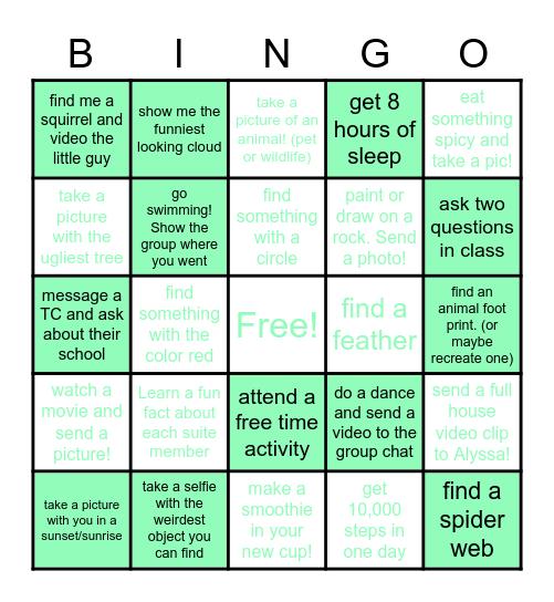 The Marvel-Lyss Suite Bingo Card