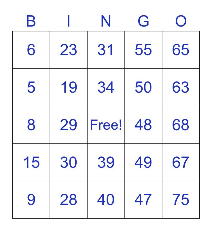 HIG Capital Bingo Card