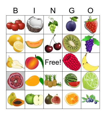 Fruit Bingo!!! Bingo Card