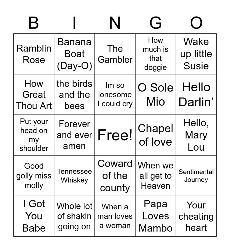 Music Bingo 2 Bingo Card
