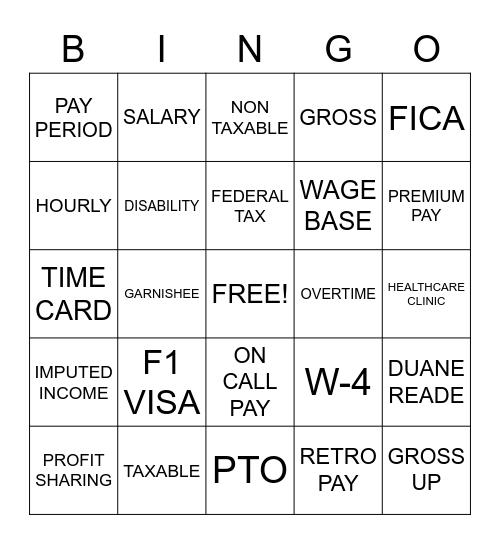 National Payroll Week, NATIONAL PAYROLL WEEK BINGO, NATIONAL PAYROLL WEEK Bingo Card