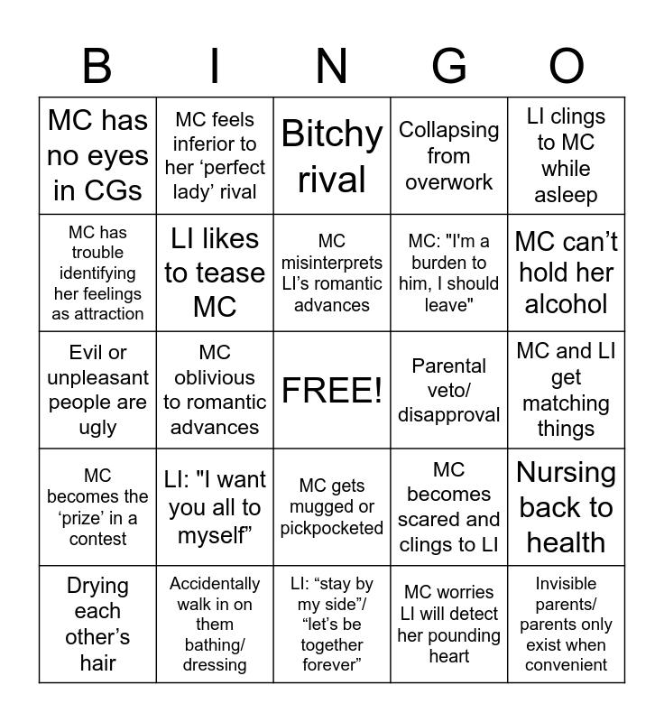 Otome Bingo Card