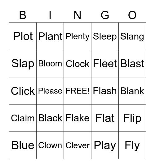 Phonics - Initial Blend Bingo! Bingo Card