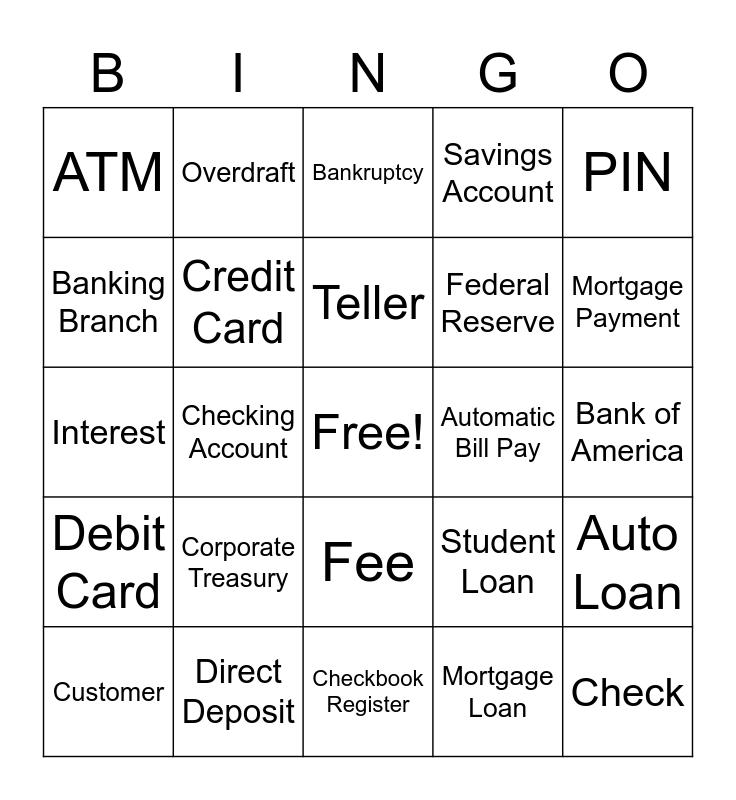 Banking Bingo Card