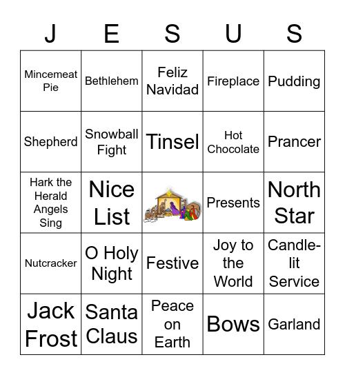 TPWC CHRISTMAS BINGO Card