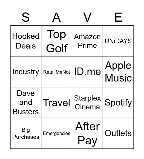 $Baddie on a Budget$ Bingo Card