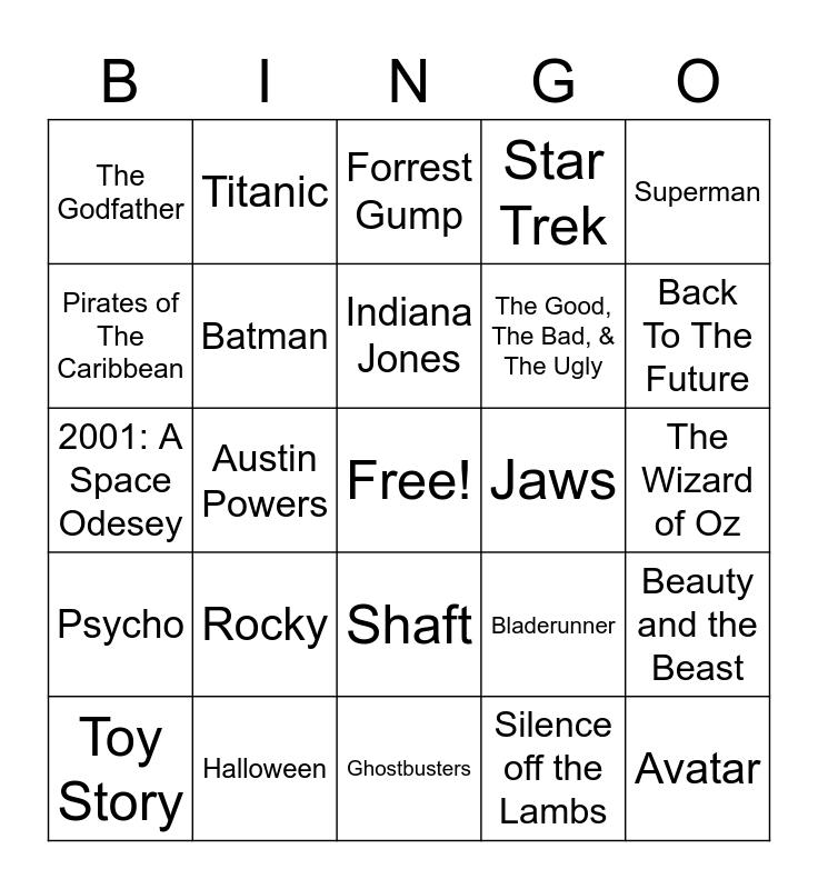 Total-Quiz.com Presents Radio Bingo: Movie Themes Bingo Card