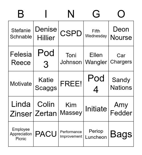 Fifth Wednesday Bingo Card