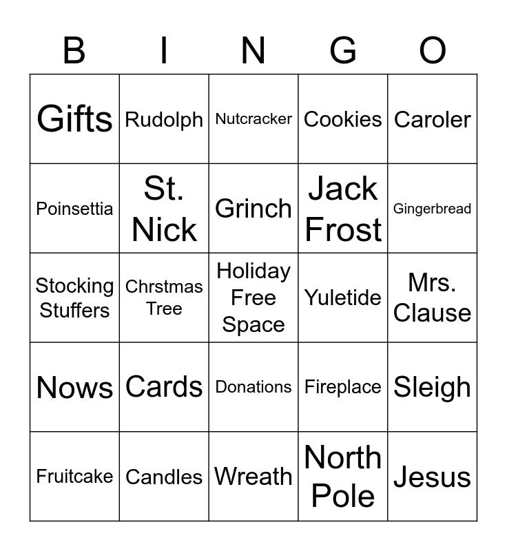 Holiday Bingo! Bingo Card