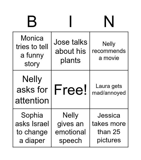 """Nelly's """"Birthday"""" Bingo Card"""