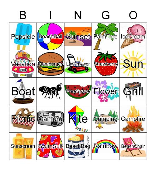Summer BINGO, Summer Fun, Summer Fingo, DEC Kick Off to Summer Bingo Card