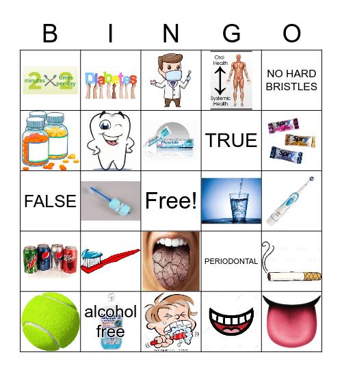 Oral Health Bingo Card