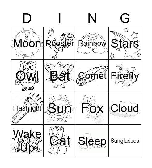 Day and Night Bingo Card