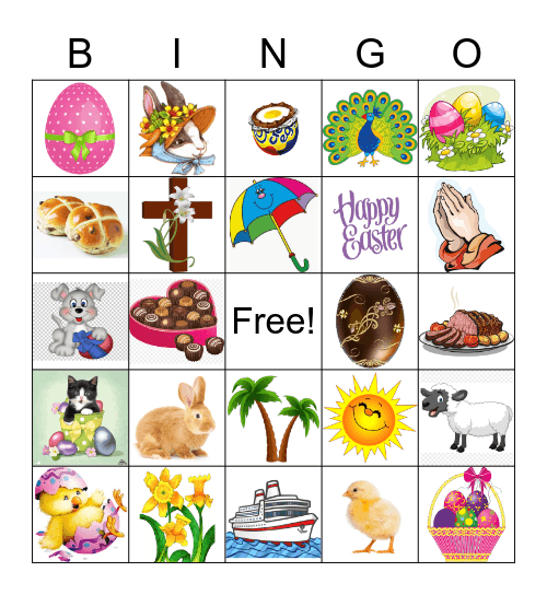 Easter Bingo Card