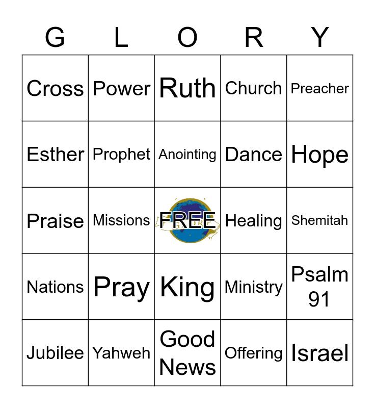 End-Time Glory Bingo Card