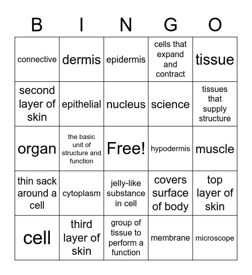Science Review Bingo Card