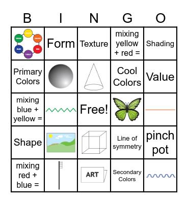 Ms. Carino's Zoom ART Bingo! Bingo Card