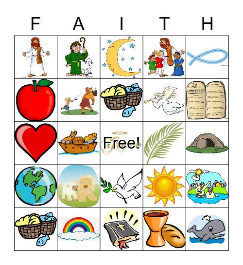 Bible Bingo, Kinder Bijbel Bingo Card