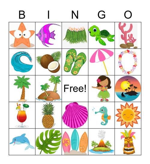 Luau Bingo Card