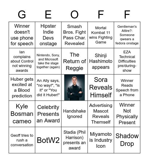 The Game Awards Bingo 2019 Remastered Edition Bingo Card