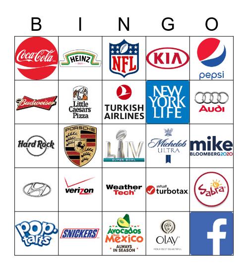 Super Bowl LIV Commercials, SIGMA BETA PHI SUPER BOWL BINGO Card
