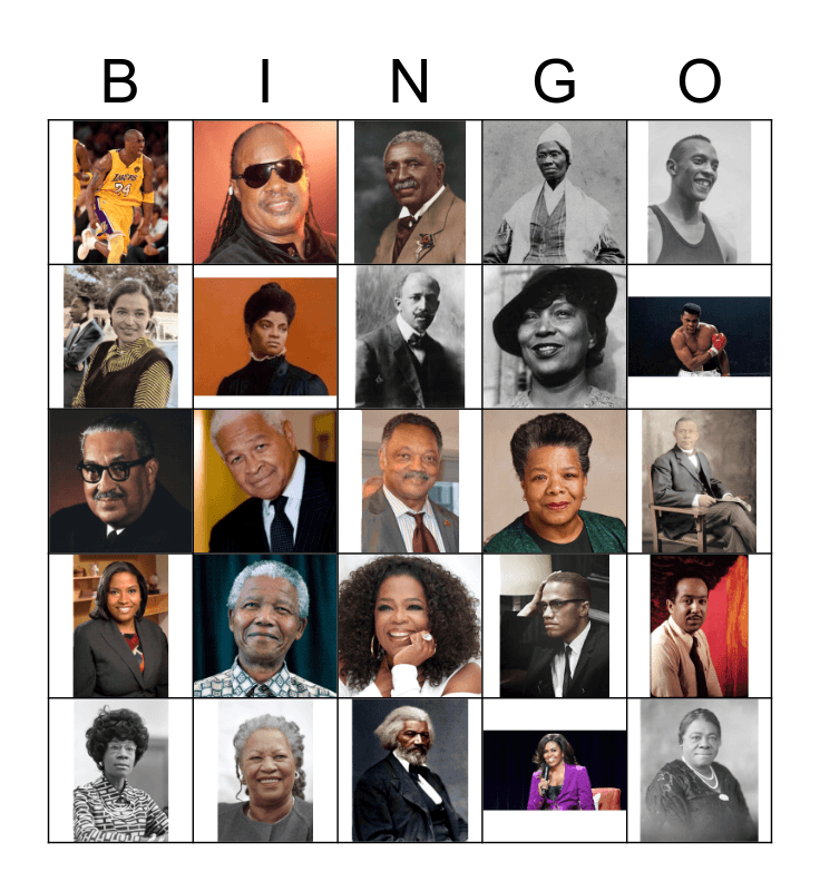 Black History Month Bingo Card