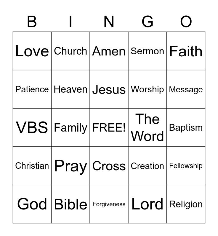 FAITH BINGO! Bingo Card