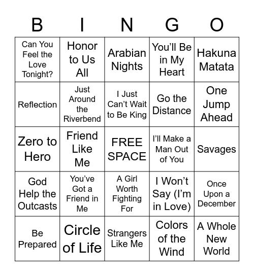 90s Bingo Card