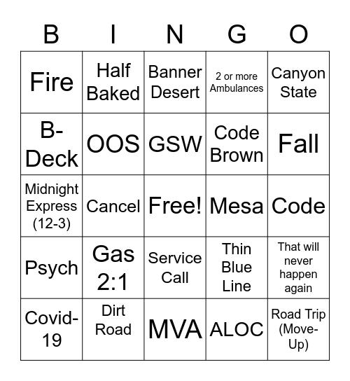E413 Bingo Card