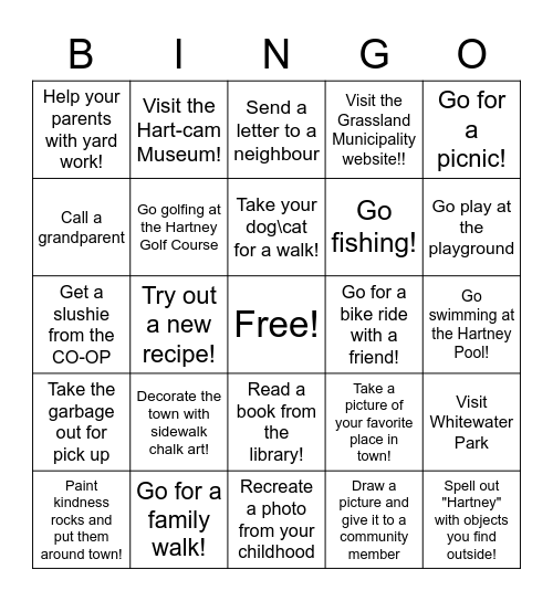 Community Bingo! Bingo Card