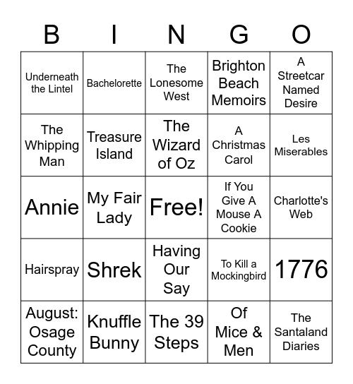Cardinal Stage Company Bingo Card