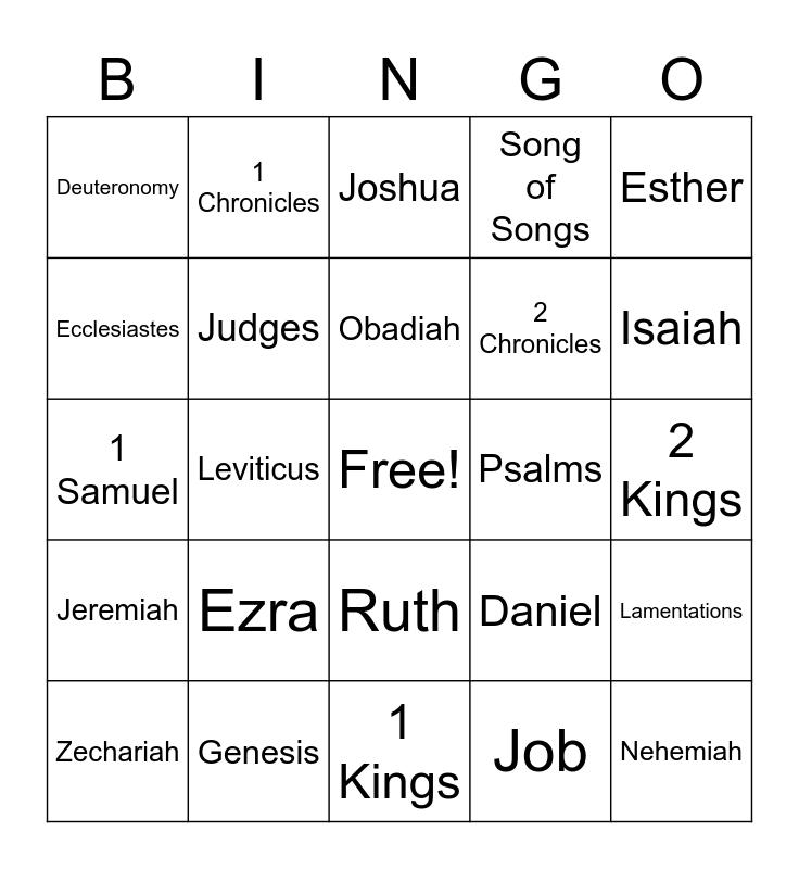 Old Testament Bingo Card