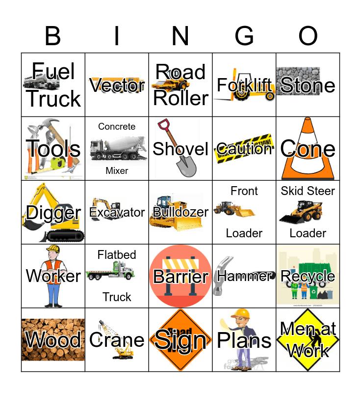 Construction Bingo Card