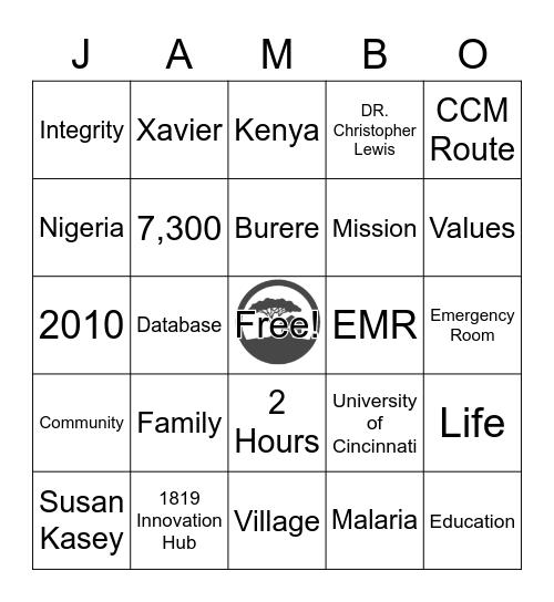 Village Life Bingo Card