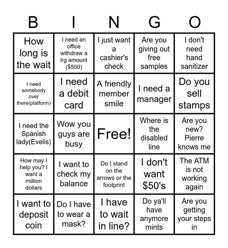 Things Members Say Bingo Card