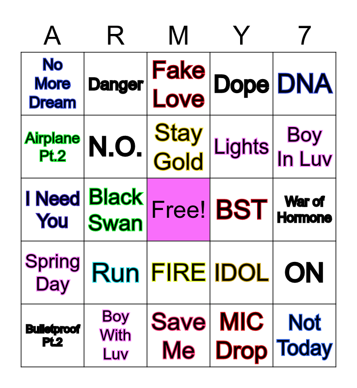 ♥♥♥ BANGTINGO ♥♥♥ Bingo Card